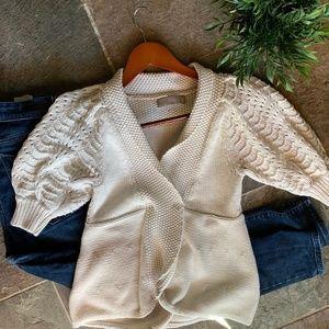 Zara Knit Cream Cardigan Size Small